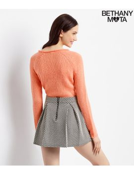 checkered-jacquard-pleated-skirt by aeropostale