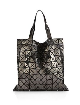 prism-metallic-faux-leather-tote by bao-bao-issey-miyake