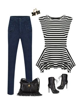 shoulder-pads-tank---stripe by lookbook-store