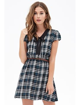 tartan-plaid-collar-dress by forever-21