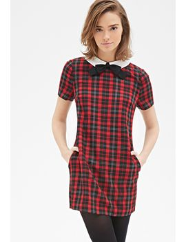 contrast-collar-plaid-shift-dress by forever-21