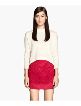 lace-covered-satin-skirt by h&m