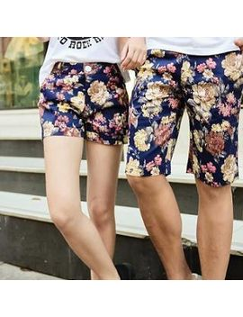 floral-couple-shorts by evolu-fashion