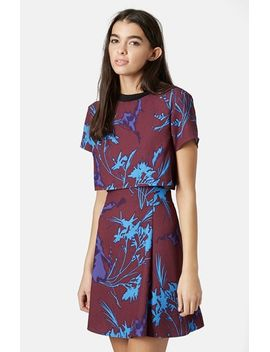 floral-overlay-dress by topshop