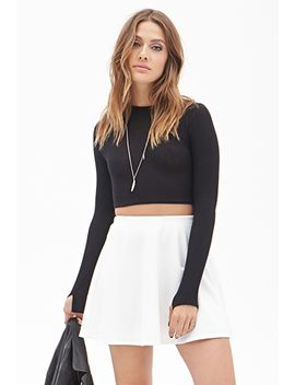 ribbed-skater-skirt by forever-21