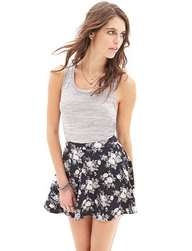 muted-floral-skater-skirt by forever-21