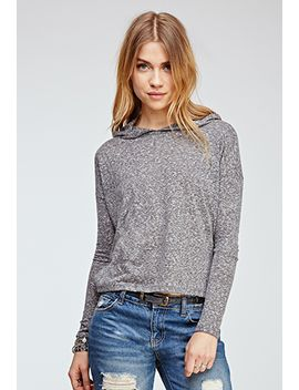 hooded-heathered-top by forever-21