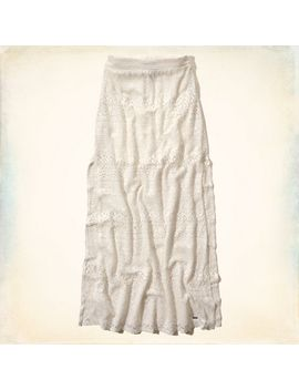 hollister-lace-maxi-skirt by hollister