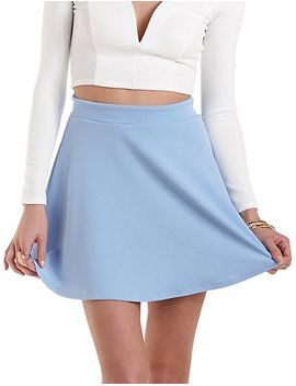 textured-knit-skater-skirt by charlotte-russe