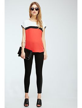 colorblocked-chiffon-top by forever-21