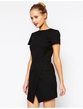 asos-dress-with-bonded-asymmetric-wrap by asos-collection