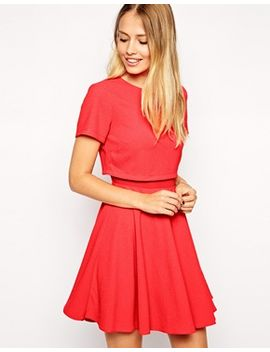asos-crepe-crop-skater-dress by warehouse