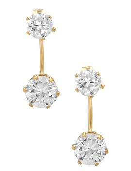 simulated-diamond-curved-bar-earrings by nordstrom-rack