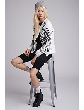 embroidered-cutout-bomber-jacket by forever-21