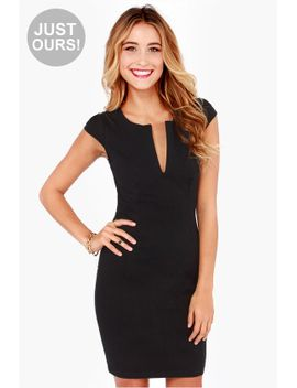 lulus-exclusive-top-notch-black-midi-dress by lulus