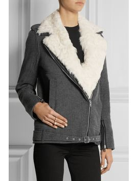cidji-shearling-trimmed-woven-jacket by iro