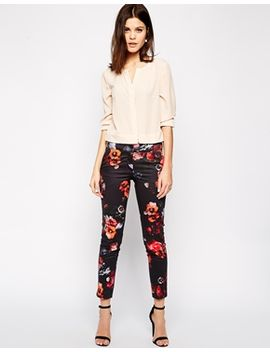 warehouse-floral-co-ord-pants by warehouse