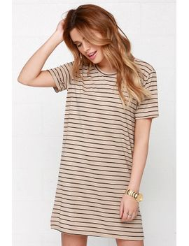 like-you-a-latte-black-and-beige-striped-dress by lulus