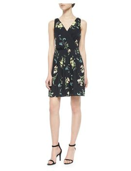 braydon-floral-print-silk-dress by joie
