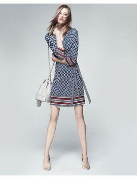 tallulah-3_4-sleeve-printed-silk-wrap-dress by diane-von-furstenberg