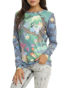disney-alice-in-wonderland-storybook-girls-crew-pullover-top by hot-topic