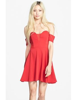 ballerina-off-the-shoulder-fit-&-flare-dress by stylestalker