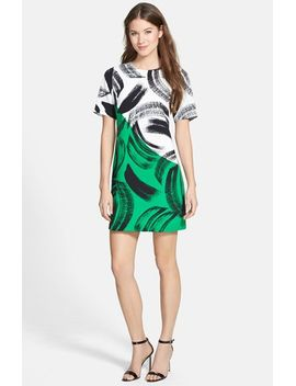 artful-strokes-short-sleeve-shift-dress by vince-camuto