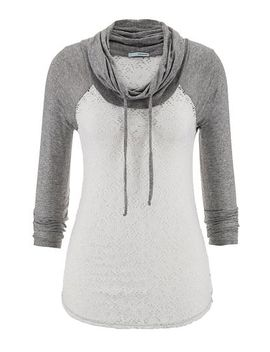 cowl-neck-lace-baseball-tee by maurices