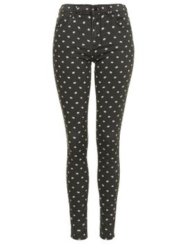 moto-micro-daisy-print-leigh-jeans by topshop