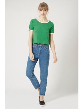 contrast-trim-cropped-tee by topshop