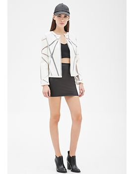 paneled-mesh-faux-leather-jacket by forever-21