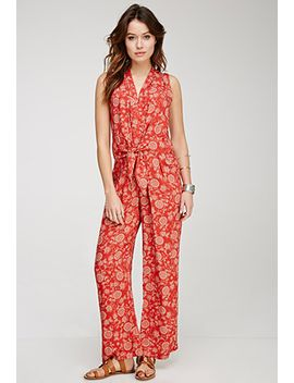 sunflower-print-jumpsuit by forever-21