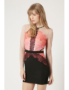 lace-cut-out-bodycon-dress by topshop