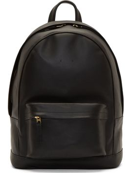 black-matte-leather-small-backpack by pb-0110
