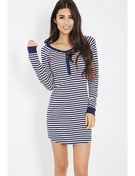 striped-thermal-nightdress by forever-21
