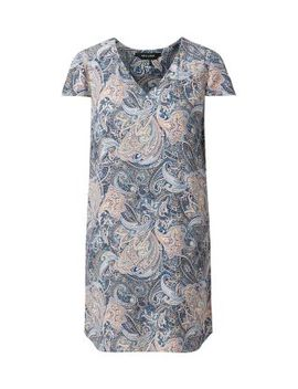 blue-paisley-print-v-neck-tunic-dress by new-look