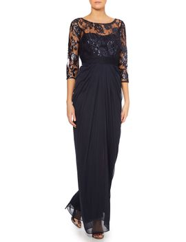 long-sleeve-embroidered-bodice-dress by adrianna-papell
