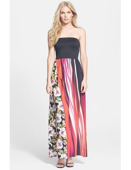 botanical-wave-strapless-maxi-dress by clover-canyon