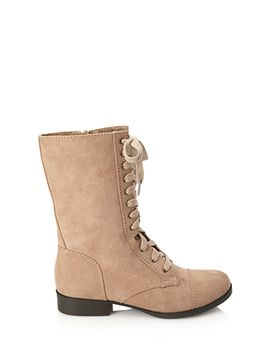 faux-suede-lace-up-boots by forever-21