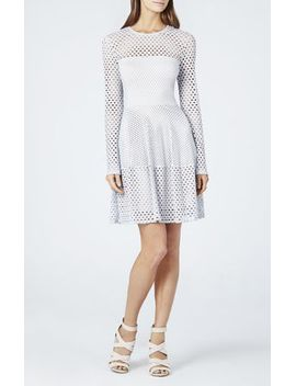 kyla-a-line-long-sleeve-dress by bcbgmaxazria
