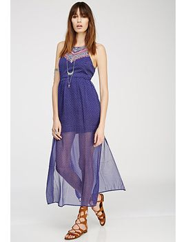 embroidered-medallion-print-maxi-dress by forever-21