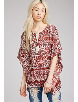 abstract-print-peasant-blouse by forever-21