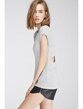 heathered-cutout-crossback-top by forever-21