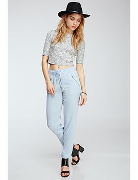 zippered-drawstring-pants by forever-21