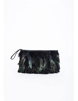 alyssia-feathered-clutch-black by missguided