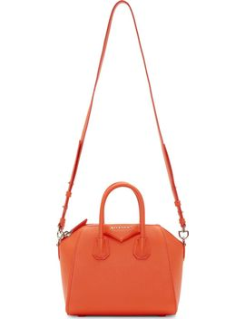 orange-sugar-leather-antigona-mini-bag by givenchy