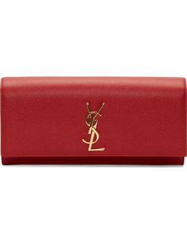 red-leather-monogram-envelope-clutch by saint-laurent