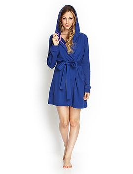 hooded-terrycloth-robe by forever-21