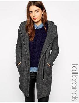new-look-tall-check-hooded-coat by new-look-tall