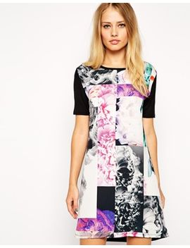 asos-t-shirt-dress-in-photo-floral-print by asos-collection